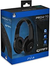 4Gamers PRO4-70 Stereo Gaming Headset for PS4, Black