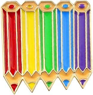 Oce180anYLV Creativo Spilla Pin Cartoon Multicolore matite Distintivo Collare Bavero Spilla Pin Gioielli Decor Regalo