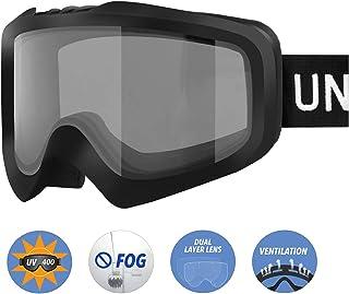 f4ec9a292f Unigear Gafas de Esquí OTG Esquiar Protección UV 400 Snowboard Revo Lentes  Doble Anti-Niebla