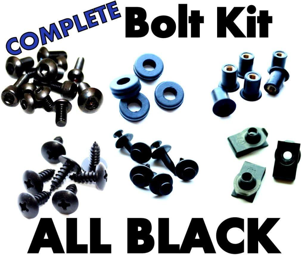 Max 54% OFF Complete Black Fairing Excellence Bolt Kit Suzuki for Fasteners GSXR Screws