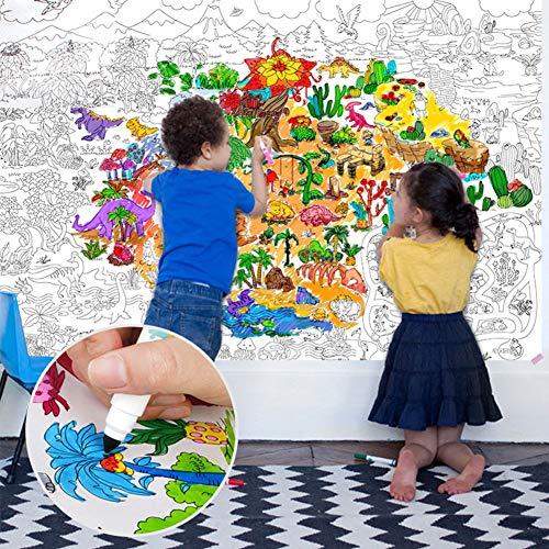 ACHICOO 115 * 80 cm Kinder Kind Super Maler Riesige Zeichnung Papier Färbung Poster Spielzeug als Geburtstagsgeschenk World map