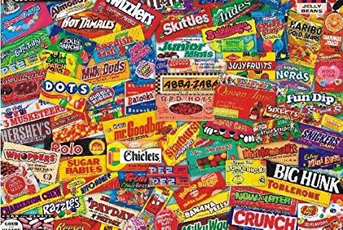 Puzzle 1000 Piece Jigsaw Puzzle for Adults Bzdthh Candy Packaging Collection Every Piece is Unique,Pieces Fit Together Perfectly