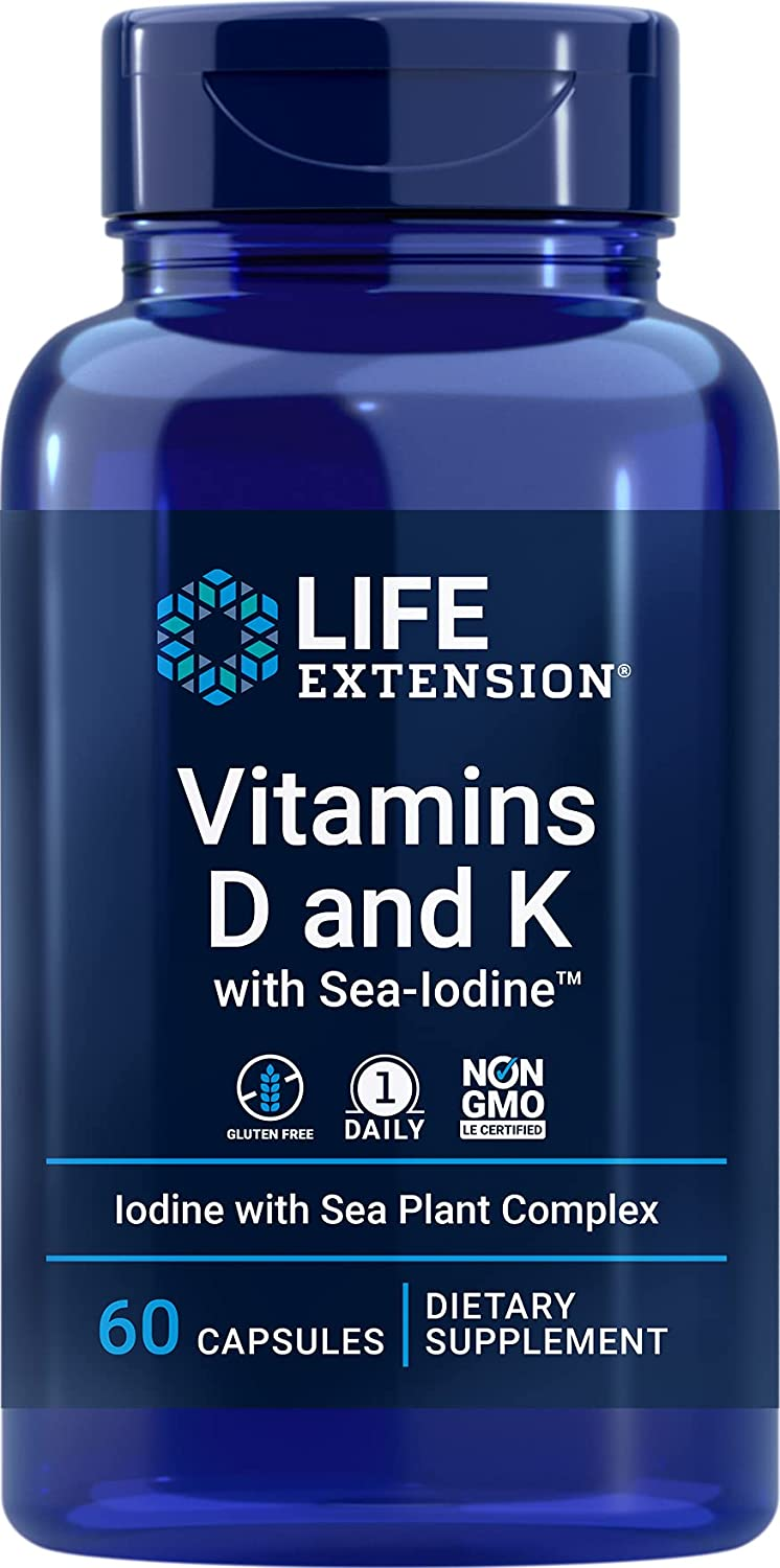 Life Extension Vitamins D and Ranking TOP10 K Bra with Max 82% OFF – Sea-Iodine Bone