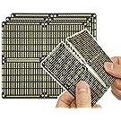 """ElectroCookie PCB Prototype Board, Conseil Bande avec Alimentation Pris en cliché Rails pour arduino et Bricolage electronique, plaqué Or, 3,8""""x3.5 (3 Pack, Noir Mat)"""