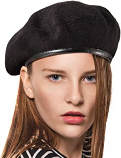 LADYBRO British Military Berets for Men - Women Warm Knit Beret Hat Spring Hat Soft
