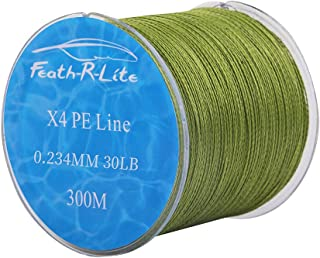 FEATH-R-LITE 4 PE Strands Braided Fishing Line 10-80LB...