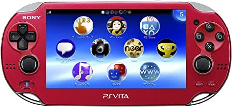 $214 » Sony Playstation Vita WiFi 1000 Series OLED Console with 2 Silicon Thumbstick Covers (Renewed) (Radiant Red)