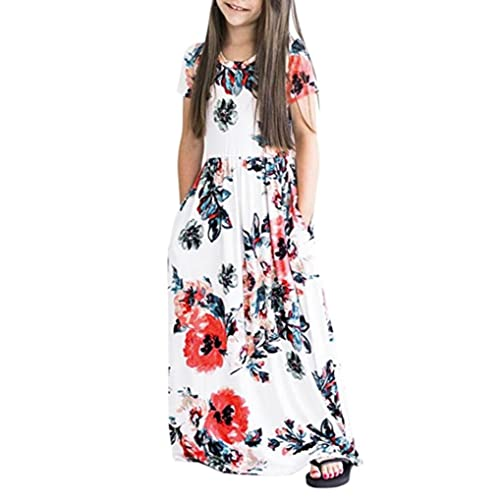 519797cecf5 PENATE Baby Girl Fashion Flower Print Princess Party Dress Long Skirt Dance  Robe