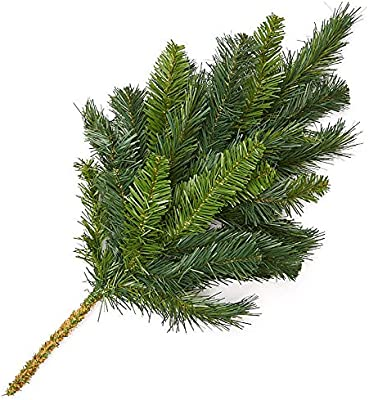 24 Pk Green PVC Canadian Pine 9 Foot Staircase Railing Christmas Garland 430100