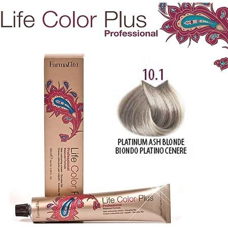 FarmaVita Life Color Plus, Tinte 10.1 Rubio Platino Ceniza - 60 ml (8022033007322)