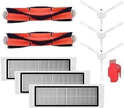 Kampre Paquete de Piezas de Repuesto de vac/ío Juego de cepillos Principales del Cepillo Lateral HEPA para Xiaomi Roborock Robot S50 S51 S55 S5
