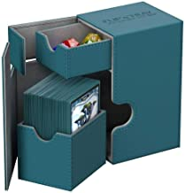 Ultimate Guard UGD010771 Twin Flip N Tray 80+ Xenoskin Deck Box, Petrol Blue