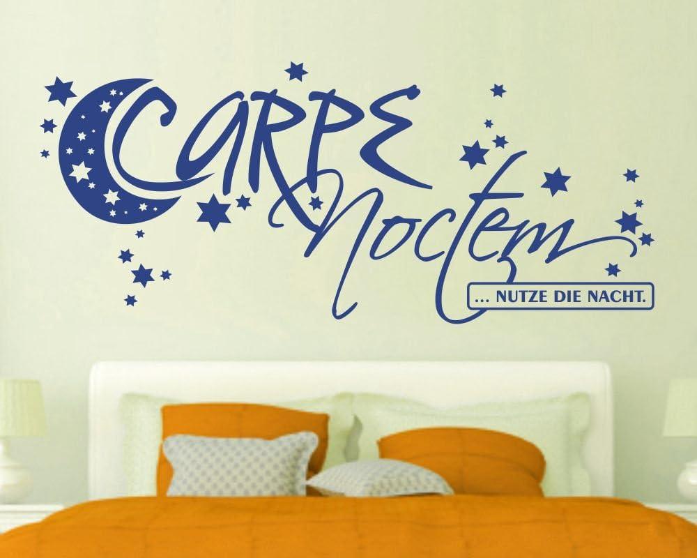 Wandtattoo Carpe Noctem Schlafzimmer Spruch mit Sternen