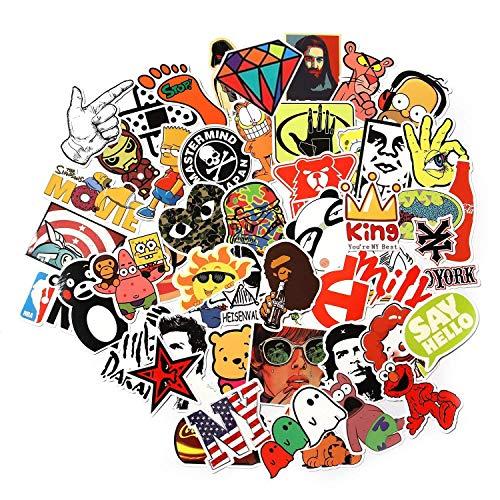 100 stks Willekeurige Muziek Film Vinyl Skateboard Gitaar Reizen Case Sticker Deur Laptop Bagage Auto Fiets Stickers (100st)