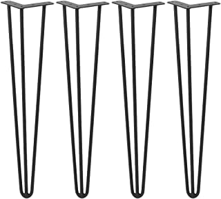 DIY Hairpin Legs, 3 Rods Table Legs, Set for 4 Metal Hairpin Table Legs, 22