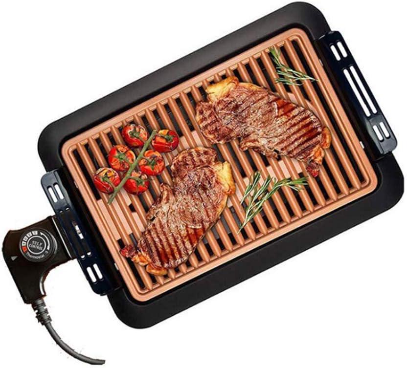 TYX-SS Table Grill Barbecue Électrique Barbecue Teppanyaki, Plaque De Cuisson, Plaque Anti-Adhésive, Crêpière Non-Stick Intérieur Extérieur,European regulations US regulations