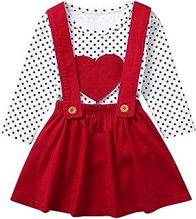 Cwemimifa Baby M/ädchen Kleidung Valentinstag Party Kleid Tutu Outfit Baumwollmischung Kurzarm Brief Print Strampler Prinzessin T/üt/ü T/üll Rock Set Geschenk Fotoshooting Babybekleidung