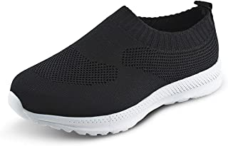 Kids Lightweight Knit Shoes Boys Girls Slip on Walking Sneakers