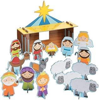 Christmas Nativity Chipboard Playset Craft Kit