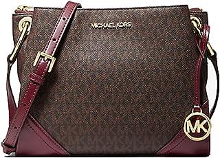 MICHAEL Michael Kors Nicole Large Logo Crossbody Bag - Merlot