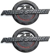 2 Pack 7.3L POWER STROKE International Diesel Side Fender Emblems, 3D Nameplate Badges Door Tailgat Powerstroke Replacement for F250 F350 (Black/Red)