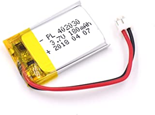 YDL 3.7V 180mAh 402030 Lipo battery Rechargeable Lithium Polymer ion Battery Pack with JST Connector