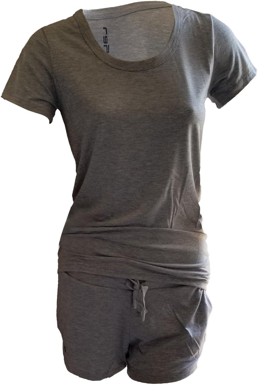 Layer Women's CrewNeck Short Sleeve Tee and Drawstring Pajama Set