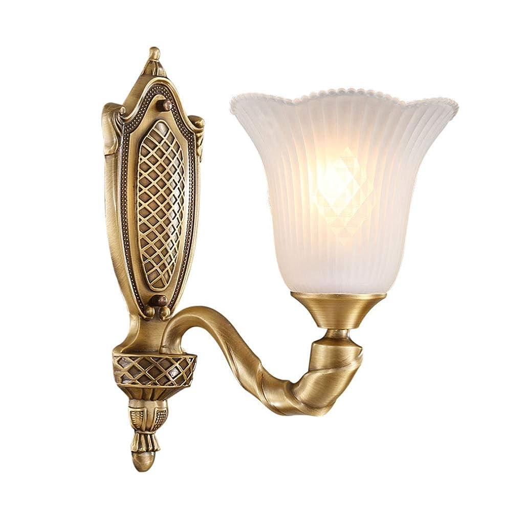 不完全想定するカプセルWangYi ウォールランプ- レトロな銅の壁ランプの寝室のリビングルームのベッドサイドコリドー通路の背景の壁ランプ (色 : ブロンズ, サイズ さいず : 26x34cm)