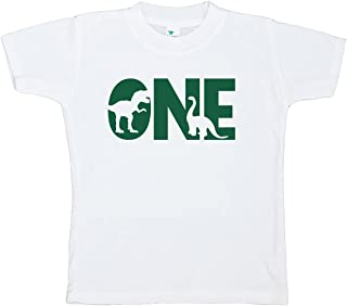 7 ate 9 Apparel One First Birthday Dinosaur T-Shirt