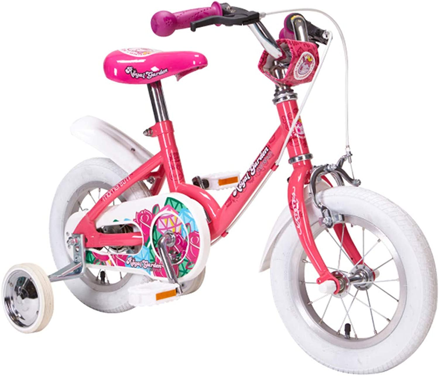 Kid Bike 12 Inch with Detachable Training Wheels Bicycle High Carbon Steel Frame for 90110 cm