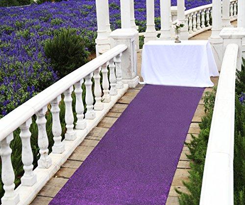 Aisle Runners for Weddings Purple 4ftx15ft Sequin Aisle Runner