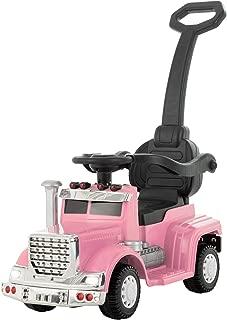 Uenjoy 6V Push Ride on Car 3 in 1 Convertible Baby Toddler Stroller, Battery Powered Kids Electric Vehicles, Parental Handle, Armrest Guardrails, LED Lights, Music, Horn, Pink