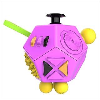 ストレス解消ダイス ・ルービック・キューブ 12面 緊張・不安・多動症・焦る・貧乏揺すりなどの対策 手持ち無沙汰を解消する 玩具 (大人と子供の適用)