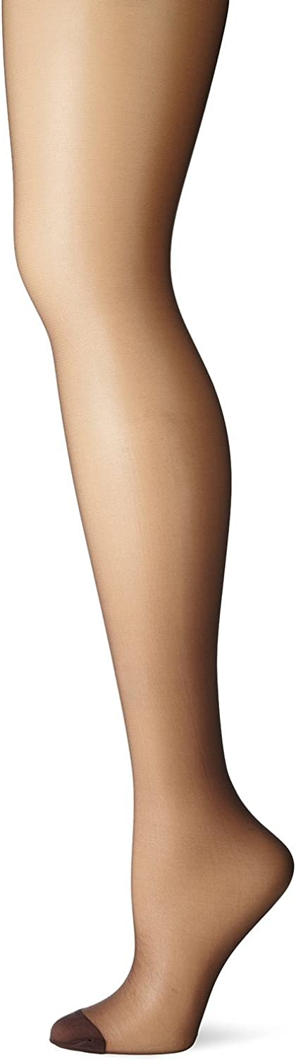 Hanes Silk Reflections Control Top Reinforced Toe Pantyhose_Barely Black_CD