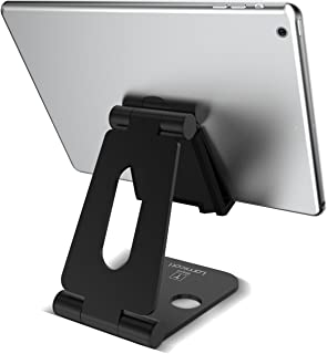 Multi-Angle Stand for Nintendo Switch, Lamicall Tablet stand : Cell Phone Video Game Holder Dock Compatible with Phone Xs Max XR X 8 7 6 6s Plus, Accessories, iPad (4-10'') Foldable Adjustable -Black
