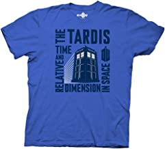 Ripple Junction Doctor Who Tardis Time & Relative Dimension in Space Mens Tee
