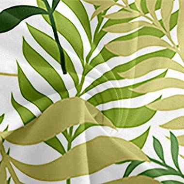 CEFCKB Duvet Cover Twin Tropical Leaf Print Washed Microfiber Bedding Comforter Cover with Zipper Closure & Corner Ties,