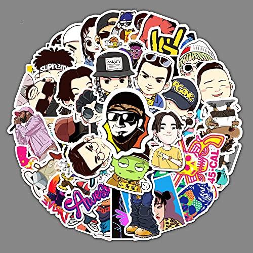 ZNMSB 50 Dibujos Animados Adventure Time con Finn y Jake Graffiti Pegatinas, Maleta, Maleta, Ordenador portátil, Pegatinas Impermeables para Coche