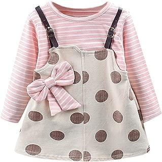 Waymine Toddler Kid Baby Girls Short Sleeve Floral Princess Romper Dresses 3-24M