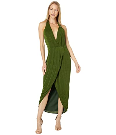 Bebe Asymmetrical Halter Neck Dress