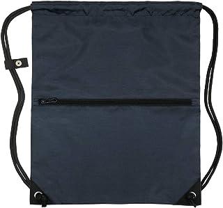 Men & Women Outdoor Sport Gym Sack Waterproof Drawstring Backpack Bag(Navy Blue)