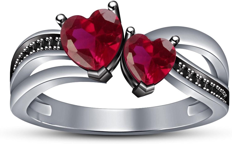 Vorra Fashion Wei Platiniert 925Silber Damen Kette Form Jahrestag Ring