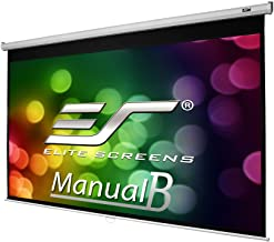Elite Screens Manual B, 100-INCH 16:10, Manual Pull Down Projector Screen 4K / 8K Ultra HDR 3D Ready with Slow Retract Mechanism, 2-Year Warranty, M100X