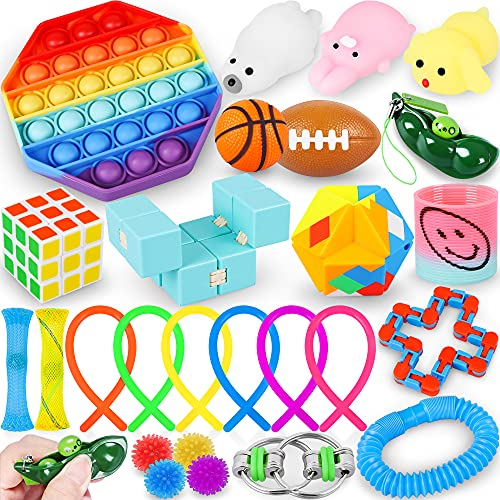 JEMSHE 26 Pack Sensory Toys Set-Toys Anti-Anxiety and Relieve Stress for Kids Adults-Fidget…