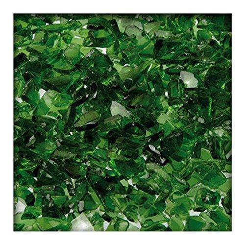 Kieskönig 5 kg Glassplitt Glasbruch Glassteine Glas Splitt Deko Körnung 5-10 mm Dunkelgrün