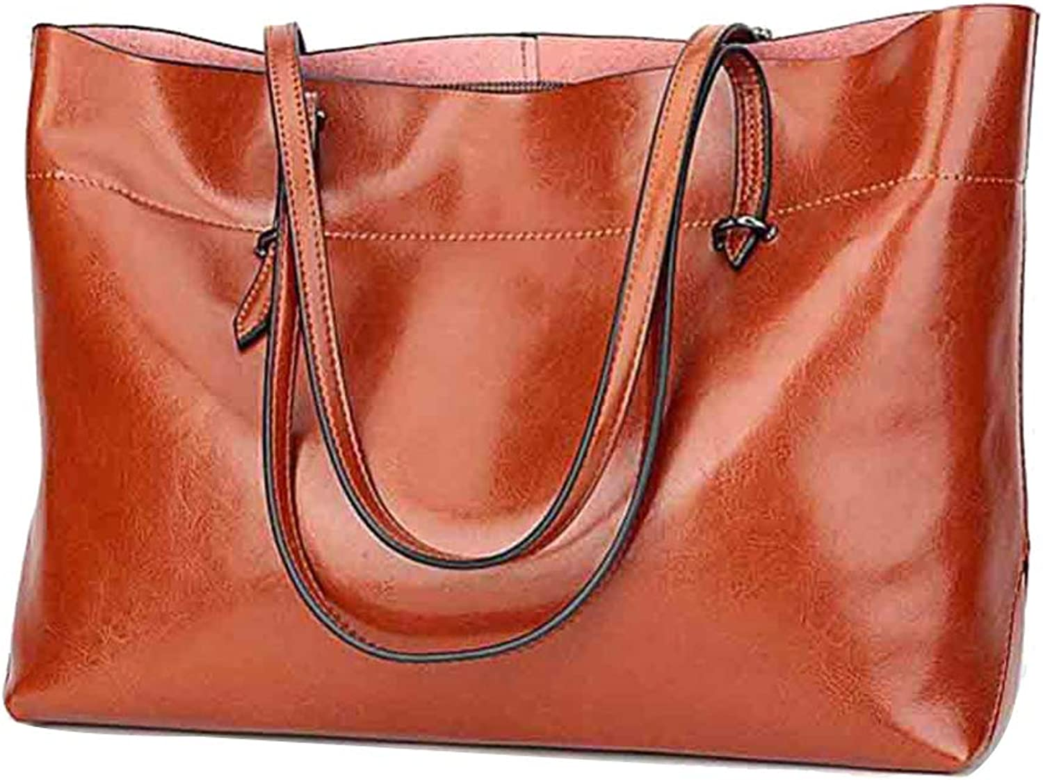 Fashionable Soft Leather Female Bag, Big Bag Ladies Shoulder Bag Fashion Elegant Handbag - Suitable for Work Shopping Travel,Available in Two Sizes