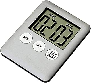 FORESTIME Large Digital LCD Kitchen Cooking Timer Count-Down Up Clock Alarm Magnetic (Silver, 70x53x9mm)