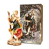 Trofeos Cadenas | San Cristóbal. Figura Religiosa, en Resina, de 20 cm con Caja Decorada