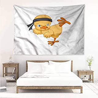 Sunnyhome Decorative Tapestry,Chicken Martial Arts Kicking Chick,Tapestry for Home Decor,W59x39L