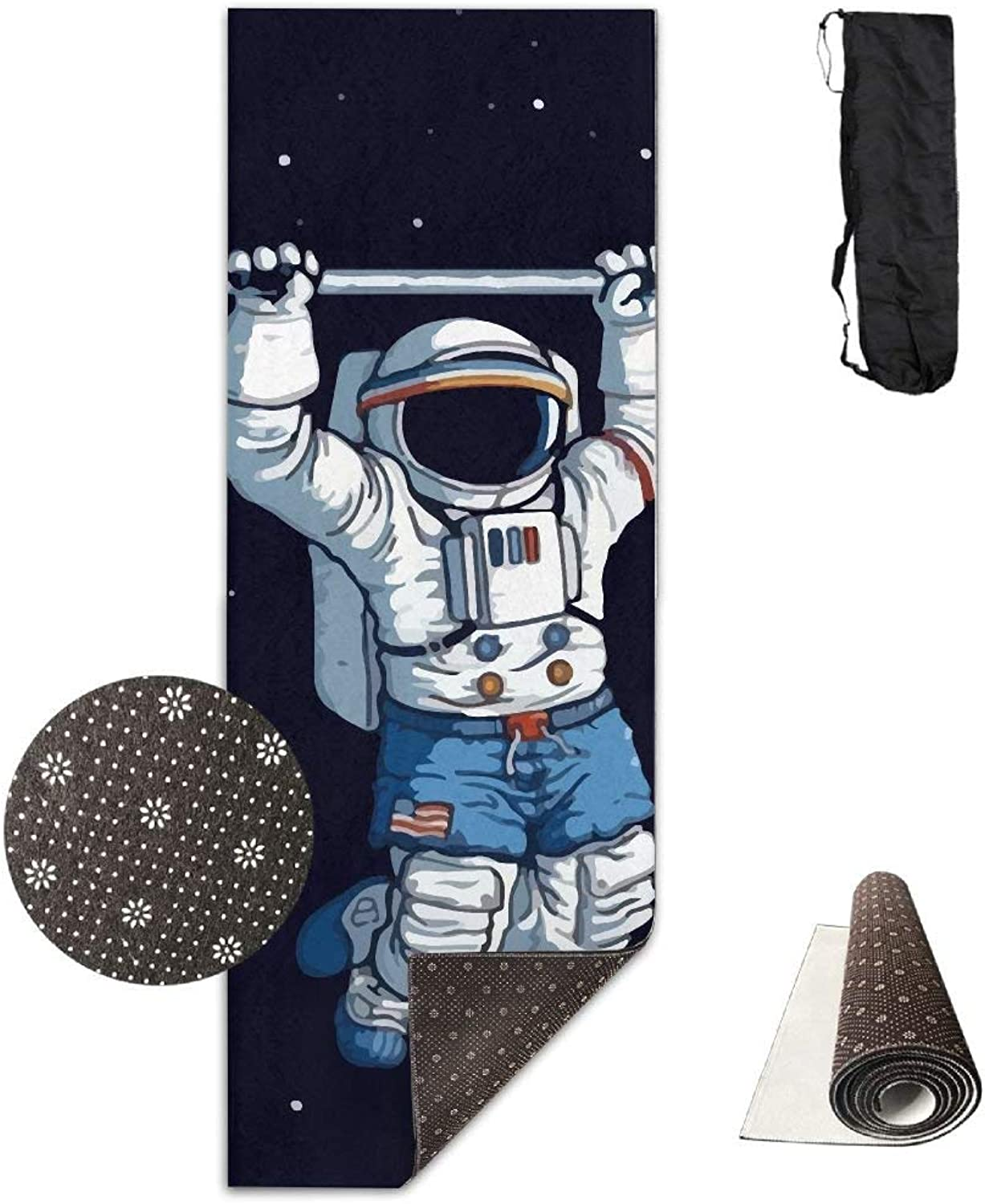 Astronauts On The International Space Station Exercise Yoga Mat  Advanced Yoga Mat  NonSlip Lining  Easy to Clean  LatexFree  Lightweight and Durable  Long 180 Width 61cm